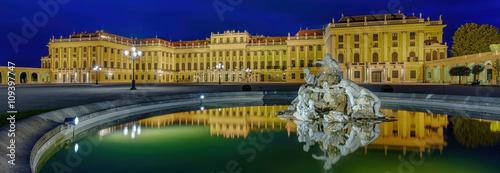 Foto op Canvas Wenen Schloss Schönbrunn Wien Panorama
