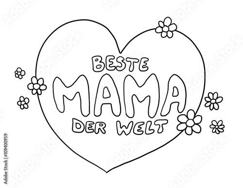 Ziemlich Malvorlagen Für Mama Galerie - Entry Level Resume Vorlagen ...