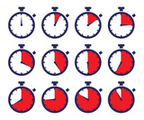 Chronometers Sport Time Laps Sequence