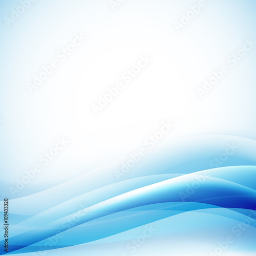 Staande foto Abstract wave light blue lines wavy background. vector