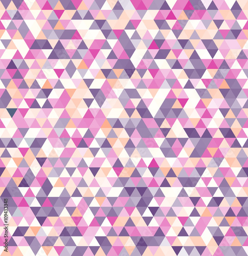 fototapeta na ścianę Geometric abstract vector background. Colored triangle seamless pattern