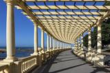 Beautiful  pergola by the sea