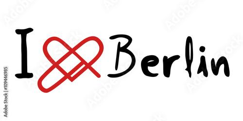 Naklejka Berlin love icon