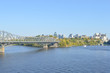 Ottawa city skyline panorama over river with urban historical buildings