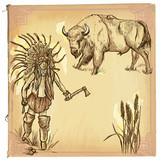 Native American, Indian - An hand drawn vector sketch, freehand - 109458139