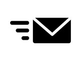 Send email message flat icon for apps and websites