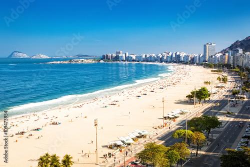 Papiers peints Rio de Janeiro Aerial view of Copacabana beach in Rio de Janeiro