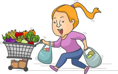 Girl Grocery Rush Sale