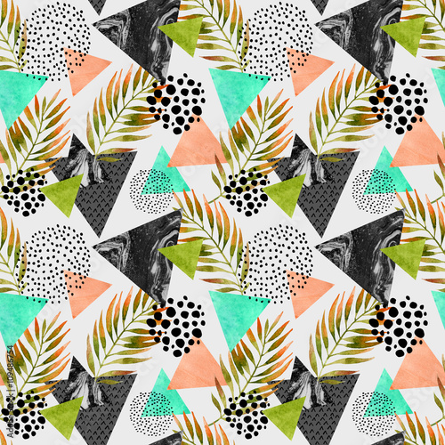 Abstract summer geometric seamless pattern - 109486754