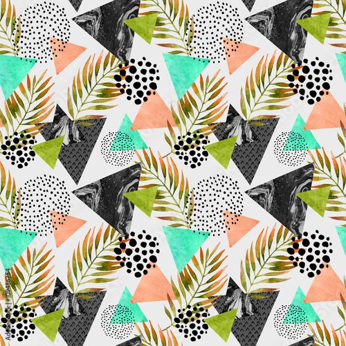 Fototapeta Abstract summer geometric seamless pattern