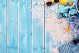 Summer vacation swimming background theme - 109491131