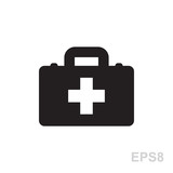 first aid kit vector icon isolated