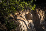 Polonnaruwa, seated Buddha in meditation at Gal Vihara Rock Temple (Gal Viharaya), UNESCO World Heritage Site, Sri Lanka