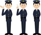 笑顔の警察官
