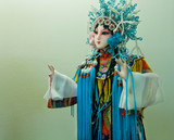 Beautiful chinese toy from traditional opera of China. Dummy of young princess