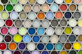 Paint tin samples, multicoloured. - 109524917