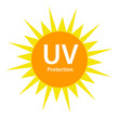 UV Protection logo with sun symbol