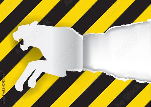 Paper Tiger Con... Construction Sign Silhouette