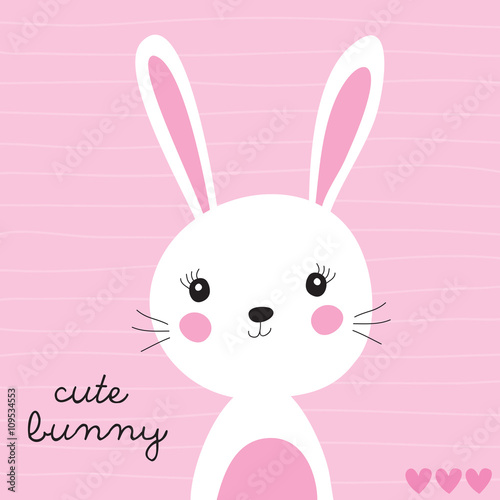 Fototapeta cute bunny vector illustration