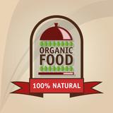 Organic food design. healthy food. menu concept, vector illustration
