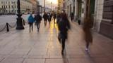 Crowded Sidewalk in a Big City Timelapse - 109540180