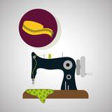 Sewing design.textile icon. tailor shop concept