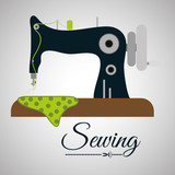 Sewing design.textile icon. tailor shop concept