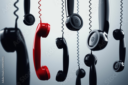 3D rendering telephone handset - 109542955
