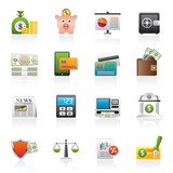 banking and financial services icons - vector icon set