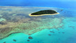 Aerial view of Green Island reef at the Great Barrier Reef Queen
