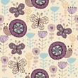 Cute hand draw seamless pattern with snail