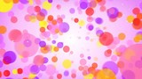 Flying colorful circles abstract background seamless loop 4k UHD (3840x2160)
