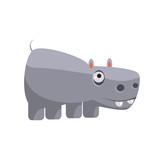 Hippo Funny Illustration - 109600170