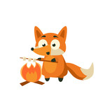 Fox Cooking Marshmellows