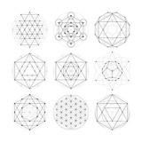 Fototapety Sacred geometry. Numerology astrology signs and symbols