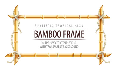 Bamboo frame template for tropical signboard © LoopAll