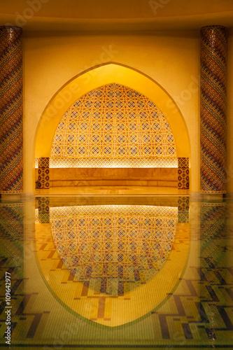 Hammam hall of Hassan II mosque in Casablanca, Morocco Poster