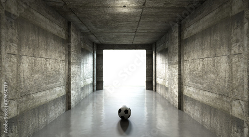 Soccer Ball Sports Stadium Tunnel