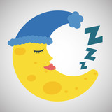 Resting design. sleep icon. bedtime concept, vector illustration