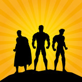 Superhero design. Superman icon. Costume illustration
