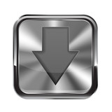Metal button.Download icon