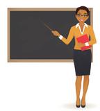 Fototapety The teacher at blackboard