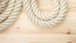 Close up of strong marine rope