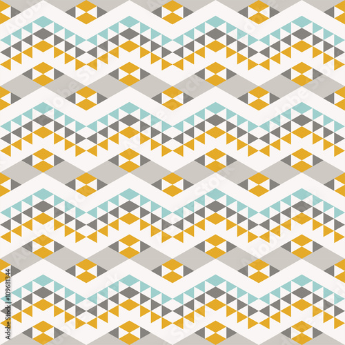 seamless pattern with abstract geometric ornament - 109681344