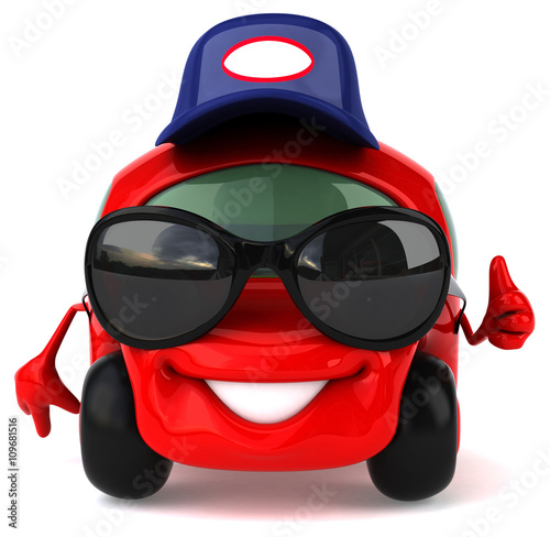 zabawny-samochod,-raper,-muzyka,-grafika-3d