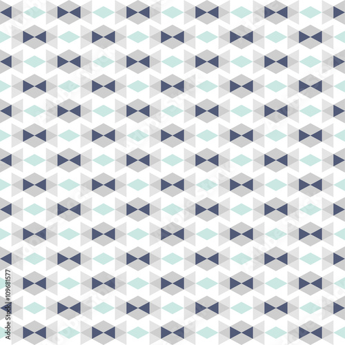 seamless pattern with abstract geometric ornament - 109681577