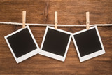 Collection blank retro photo frames