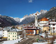 The Ansiei Valley, hemmed in by the peaks of the Dolomites, embraces the town of Auronzo di Cadore. Sexten Dolomites in Italy - UNESCO World Heritage Site