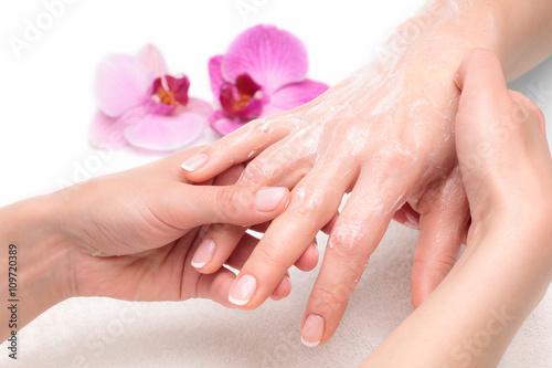 Obraz na Szkle Masaż dłoni