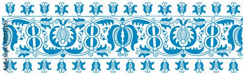 Fototapeta Antique embroidery pattern with folk motifs